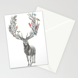 Winter Solstice Caribou Stationery Cards