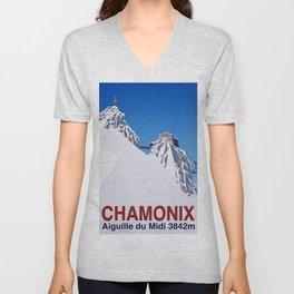 Chamonix ski Unisex V-Neck