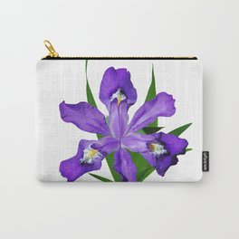 Dwarf crested Iris, Iris cristata on white Carry-All Pouch