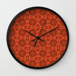 Flame Doily Floral Wall Clock