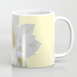 White Clematis with Yellow bkgrd Coffee Mug