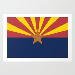 Flag of Arizona Art Print