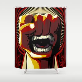 Fists of Rage Shower Curtain
