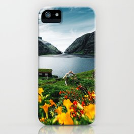 cottage at faroe iPhone Case