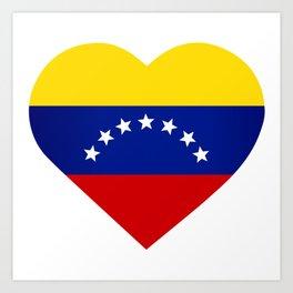 Venezuelan heart - Corazon Venezolano Art Print