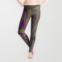 Distorted stripes in colour 2 Leggings