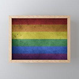 LGBT Pride Flag Framed Mini Art Print