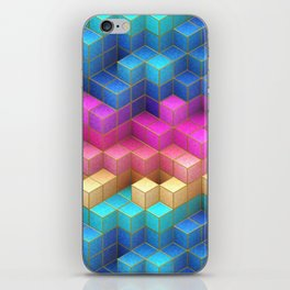 Cubed Rainbow iPhone Skin