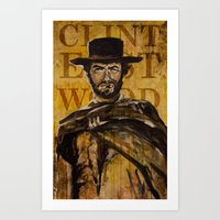 clint eastwood Art Prints featuring Clint Eastwood by Olga Ko