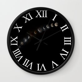 Super Blood Moon Eclipse Wall Clock