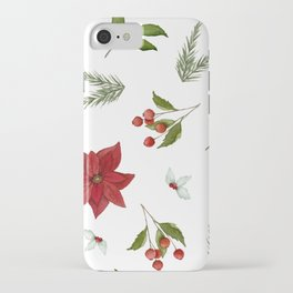 Get to the Poinsettia iPhone Case