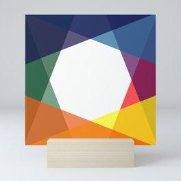 Rainbow geometry Mini Art Print