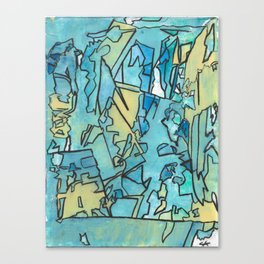 The Shoreline Ocean Abstract Fine Art Canvas Print