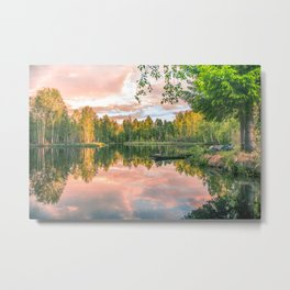 Forest Silence Metal Print