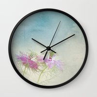 twins Wall Clocks featuring Twins by aRTsKRATCHES