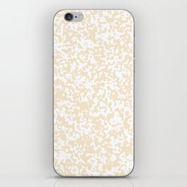 Small Spots - White and Champagne Orange iPhone Skin
