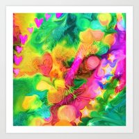 camouflage Art Prints featuring Camouflage by Geni