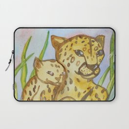 Cheetahs - Mother and a Cub Laptop Sleeve