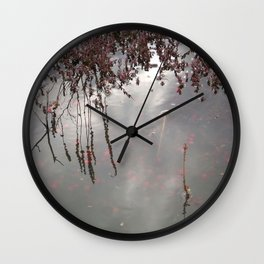 Cranberries Waiting To Be Harvested Wall Clock