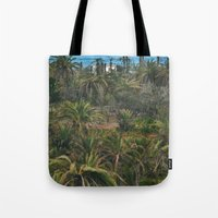 oasis Tote Bags featuring Oasis. by calvin./CHANCE