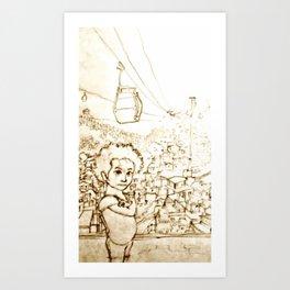 A menina da Favela Art Print