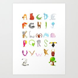 Animal Alphabet Art Print