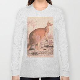 Vintage Kangaroo Family Illustration (1849) Long Sleeve T-shirt