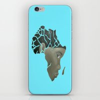 african iPhone & iPod Skins featuring African Continent by ArtSchool