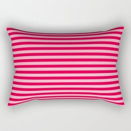 Colorful stripes, Red and Pink, Abstract Art Rectangular Pillow