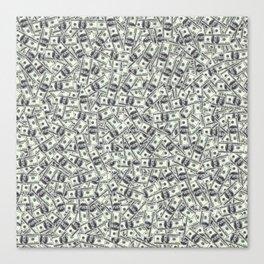 Giant money background 100 dollar bills / 3D render of thousands of 100 dollar bills Canvas Print