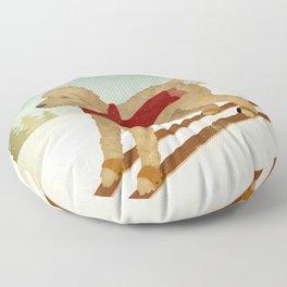 Doodle Schnoodle Whoodle Labradoodle Goldendoodle Ski Dog Floor Pillow