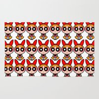 girl power Area & Throw Rugs featuring Cartoon Power Puff girl by Maxvision