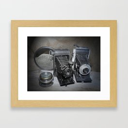 Vintage Lenses. Framed Art Print
