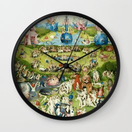The Garden of Earthly Delights by Hieronymus Bosch Wall Clock