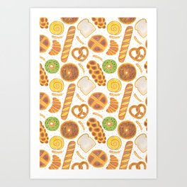 The Delicious Breads Art Print