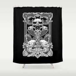 THE POLITICS OF GREED Shower Curtain