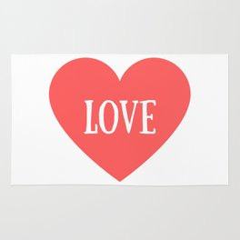 Love Heart Valentines Day Rug