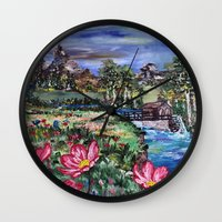 serenity Wall Clocks featuring Serenity by Art of Leki
