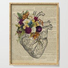 human flower heart  Serving Tray
