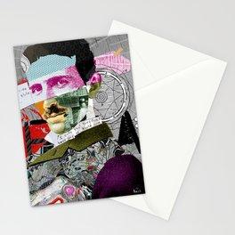 Nikola Portrait Collage Art Stationery Cards