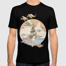 Sea dream Black X-LARGE Mens Fitted Tee