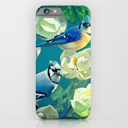 Blue Jays and Magnolias iPhone Case