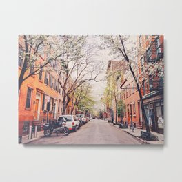 New York City - Springtime in the West Village Metal Print