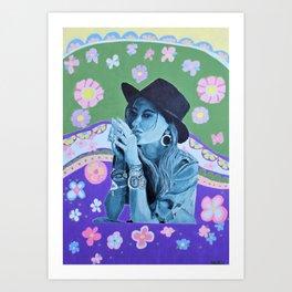 Boho Girl 1 Summer Art Print