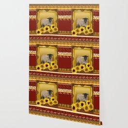 Frame Design yellow Sheep Wallpaper
