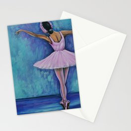 Young Ballerina Rosa Stationery Cards