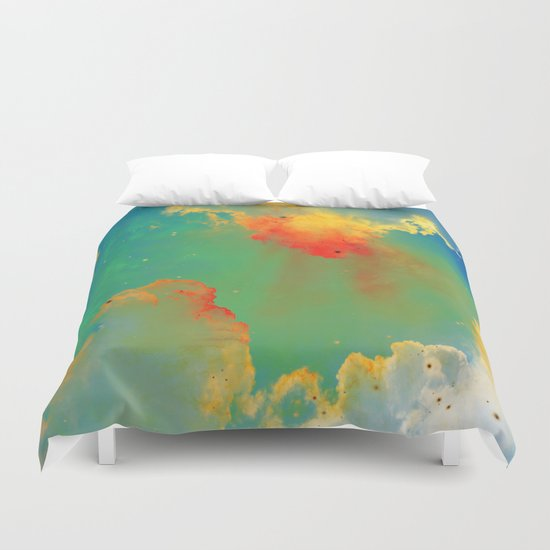 Goldfishes of the Universe Duvet Cover
