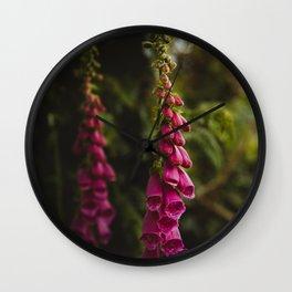 Irish Foxglove Garden Love Wall Clock