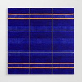 N241 - Navy Deep Calm Blue Velvet Texture Moroccan Style  Wood Wall Art