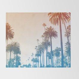 Summer in LA Throw Blanket